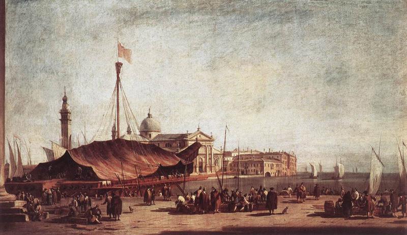Francesco Guardi - The Piazzetta, Looking toward San Giorgio Maggiore