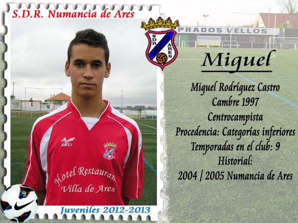 MIGUEL Rodríguez, xuveníl do Numancia de Ares.