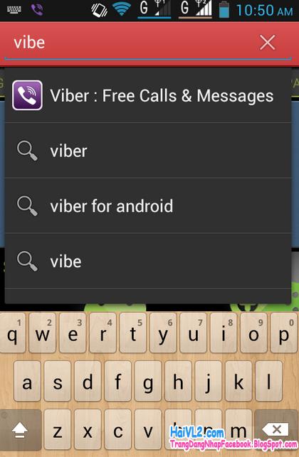 vào kho ứng dụng để tải viber về máy