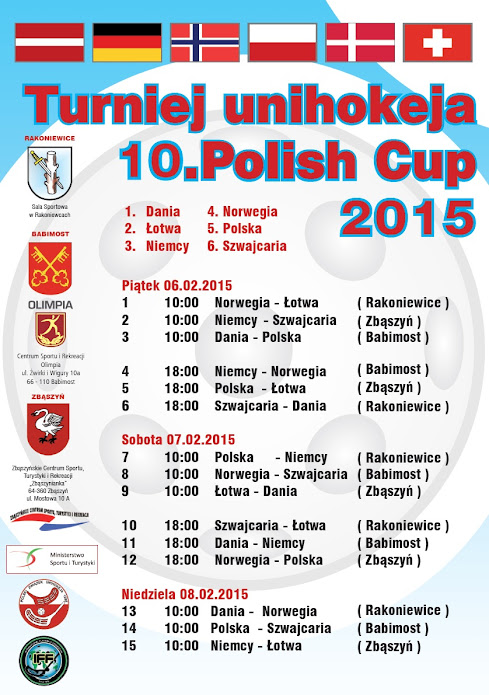 Turniej unihokeja 10. Polish Cup 2015 @ Rakoniewice, Zbąszyń , Babimost