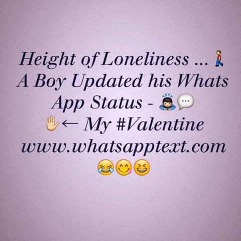 Height of loneliness !! Funny boys jokes valentine jokes  .. Funny Whatsapp status