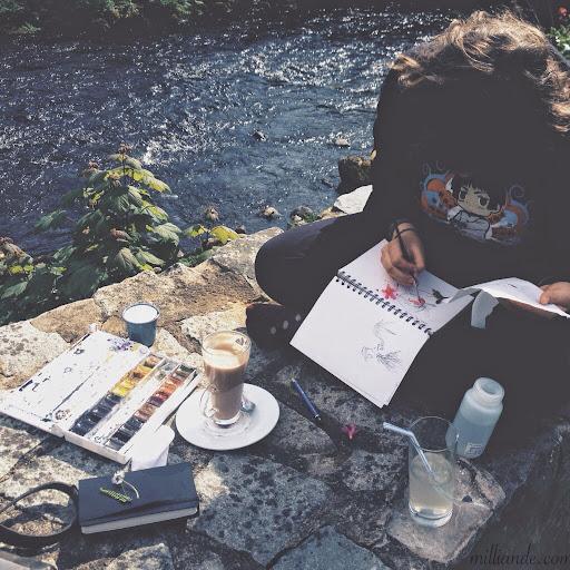 Watercolor%20Field%20Journal%20%2C%20Art%20Journaling%20with%20Milliande%20%2C%20Sketchbook%20Peeks