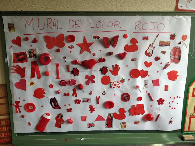 MURAL COLOR ROJO 3 AÑOS A