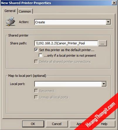 Triển khai Printer Pool cho các tài khoản bằng Group Policy