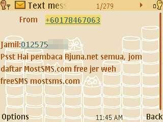 hantar sms free