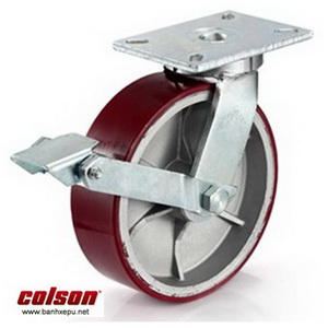 Bánh xe PU công nghiệp chịu tải trọng cao 1,035kg | 7-10679-959BRK1