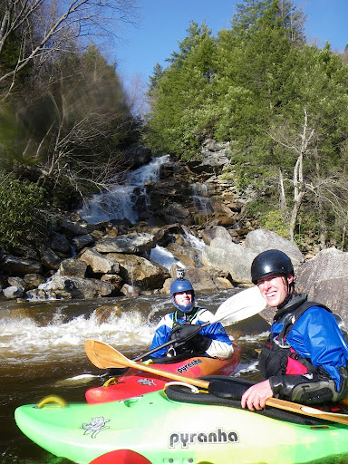 More great days on the Uppper Blackwater. Pendleton falls in the background.