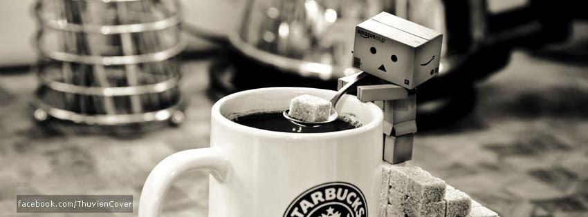 Danbo bỏ đường vào cafe