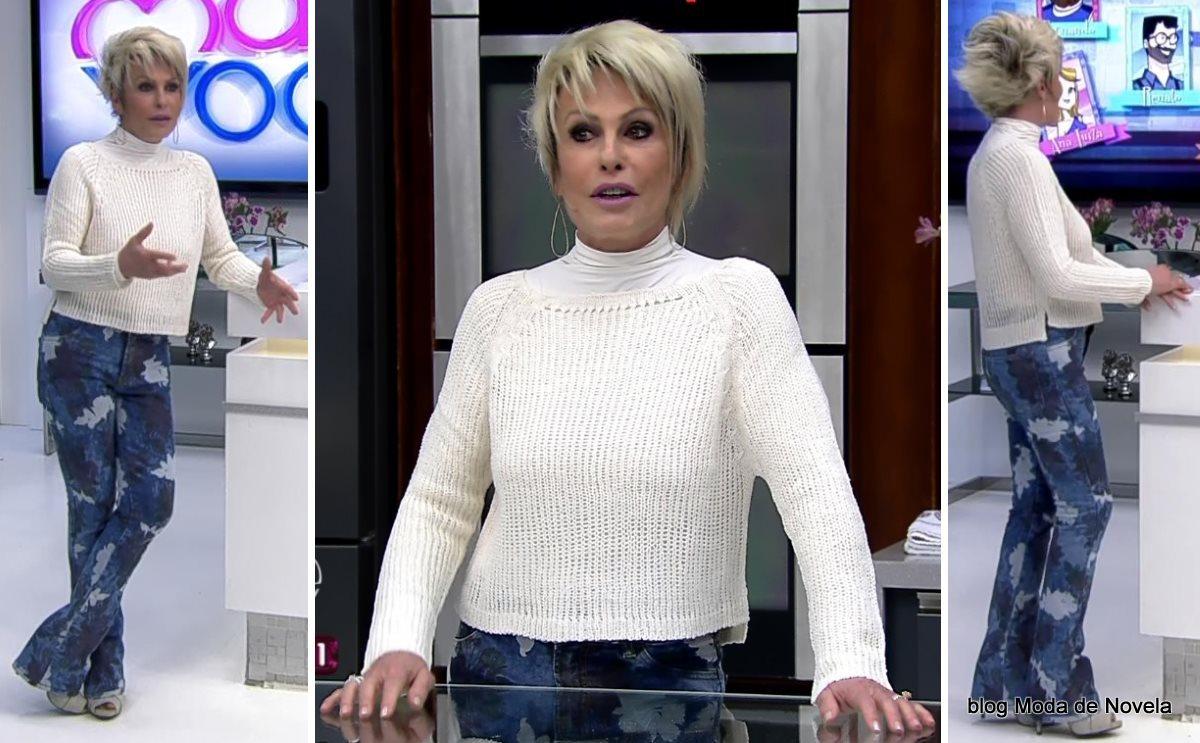 moda do programa Mais Você - look da Ana Maria Braga dia 25 de julho