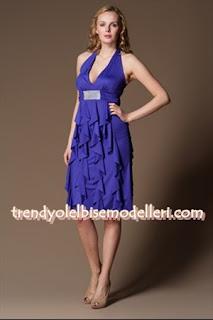 trendyol sandro Sendy saks mavisi Elbise