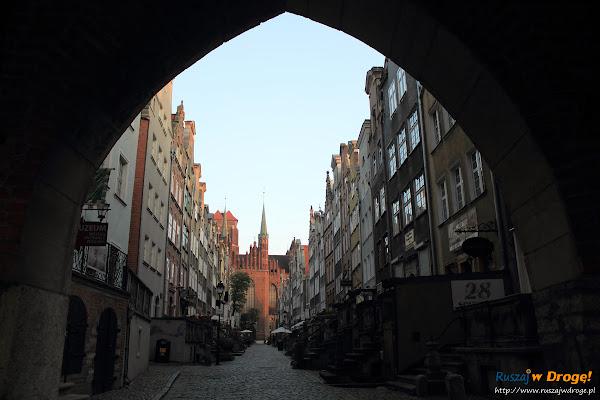 Gdańsk - Ulica Mariacka o świcie