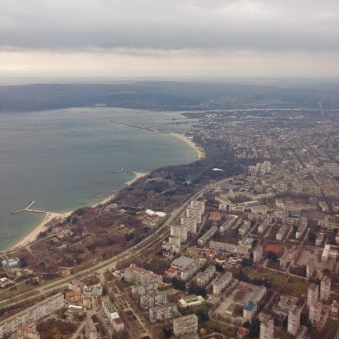 Picture of Varna and the bay of Varna.