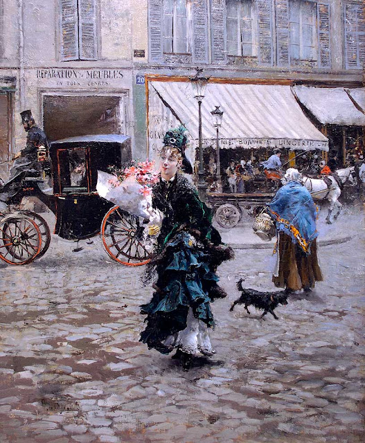 Giovanni Boldini - Crossing the Street
