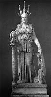Η Αθηνά είναι Θεά της σοφίας, της άμυνας της πόλης,  της ύφανσης  και της κεραμοποιίας.