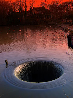 morning glory hole in the water