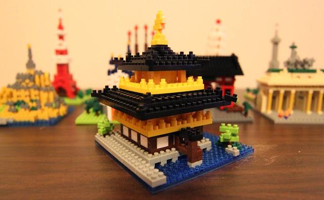 Mô hình Ngôi đền Kinkaku-ji Temple xếp hình Nanoblock với độ chi tiết cao, rất thực tế
