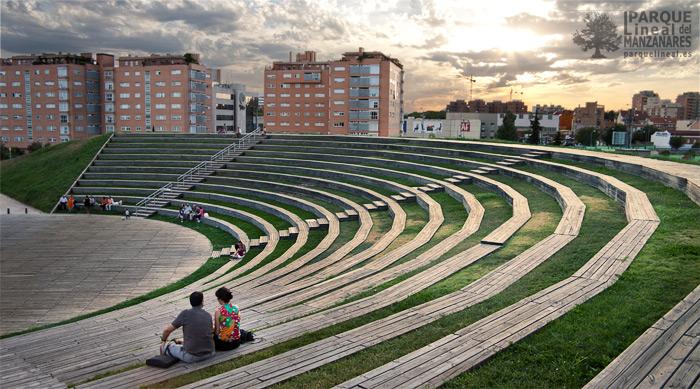 plaza verde, parque manzanares