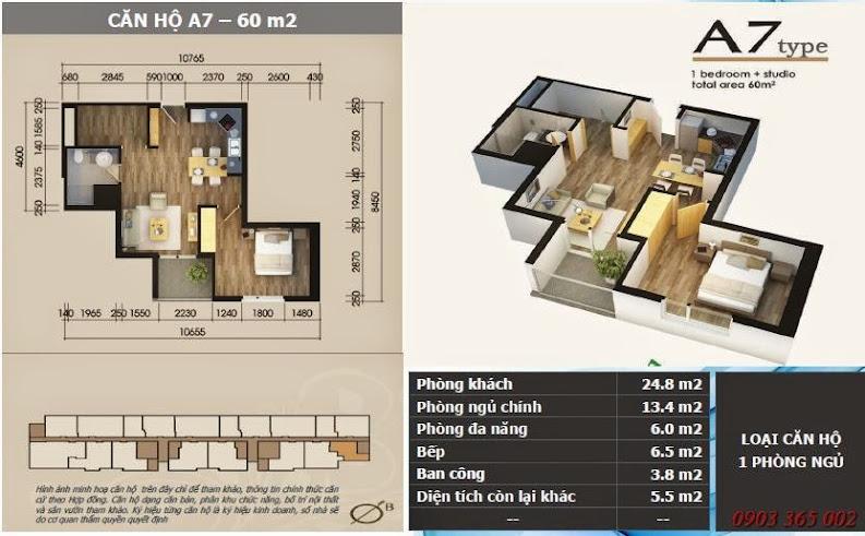 Chung cư starcity lê văn lương thiết kế căn A7