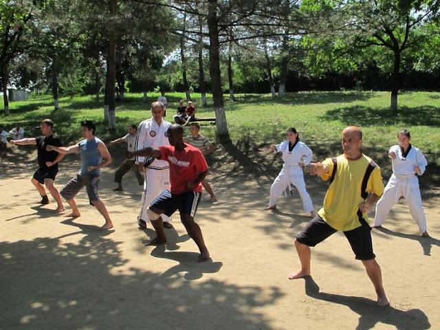 Taekwon-Do training in camp in Moldova, summer 2011