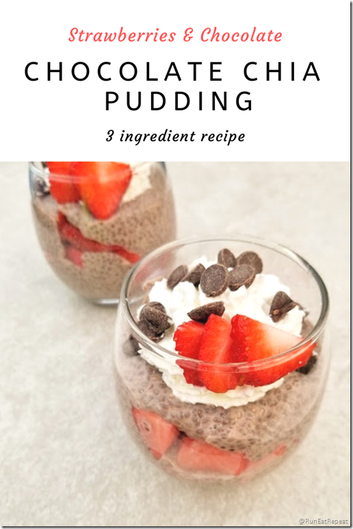 Chocolate Chia Pudding with strawberries recipe