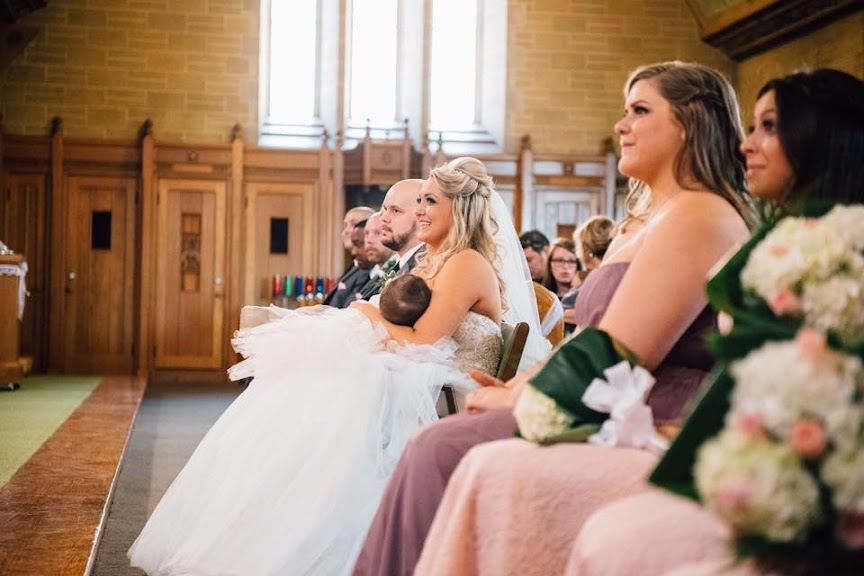 Awesome Bride Breastfeeds Her Baby During Wedding Ceremony