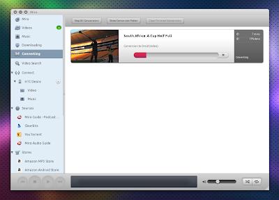 Miro 4 Ubuntu - convert videos