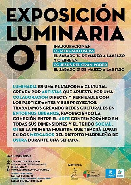 Luminaria 01, el Arte Contemporáneo llega a los mercados de Usera