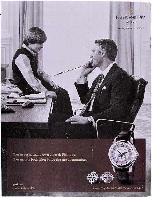 Wristwatch ad