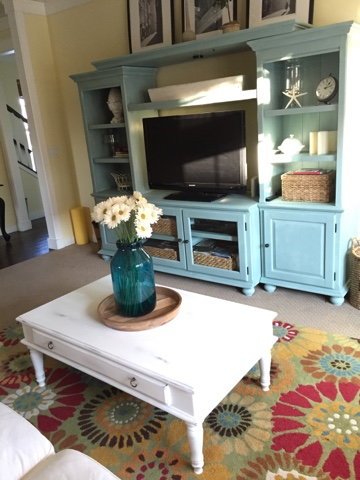 Annie sloan chalk painted entertainment center the style for How to reuse an entertainment center