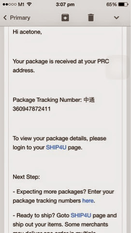 Package Arrival Notification