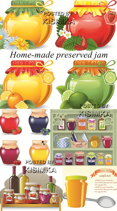 Stock: Home-made preserved jam
