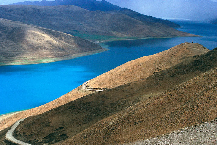 """Road to Turquoise Lake - Tibet"" by Sylvia Abualy"