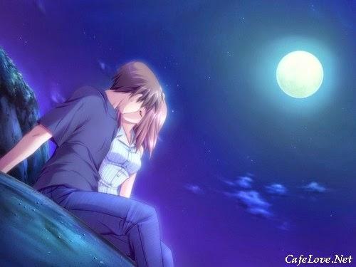 Hình ảnh đẹp đôi tình nhân lãng mạn trong đêm trăng