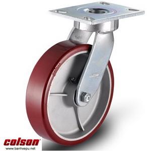 Bánh xe Colson 8 inch PU chịu lực 680kg càng Impak xoay | 6-8279-939