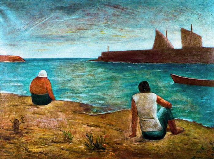 Carlo Carrà - The Swimmers