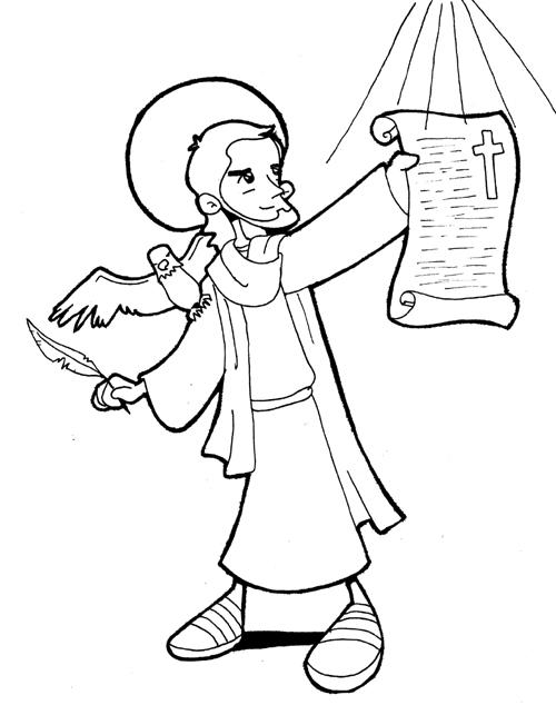 San Juan Evangelista para colorear