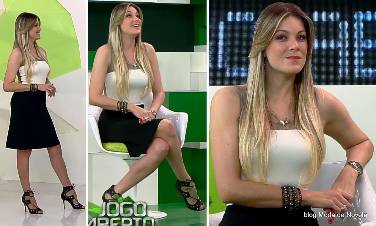 moda do programa Jogo Aberto - look da Renata Fan dia 31 de julho