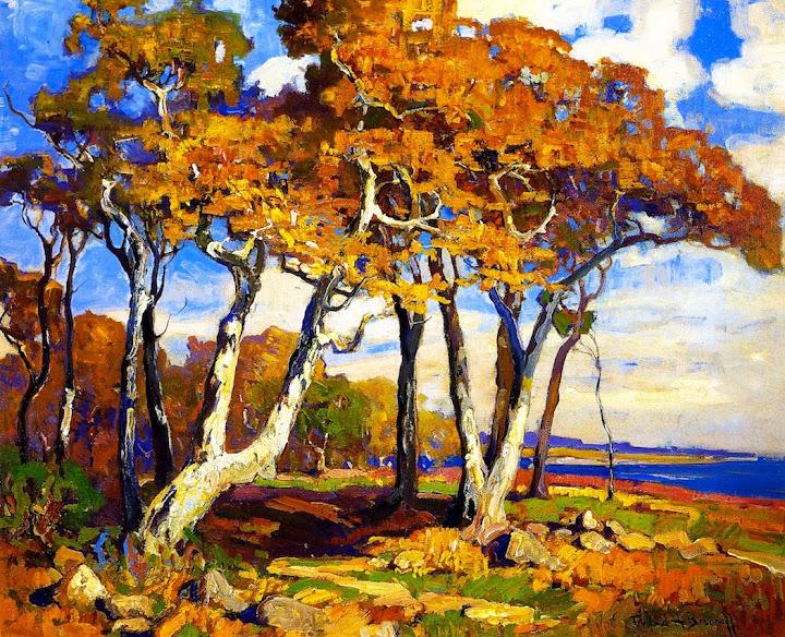 Franz Bischoff - Sycamores, Autumn