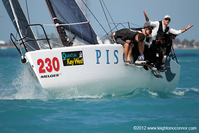 J/80 sailor Ben Schwartz sailing M32 class at Key West Race Week