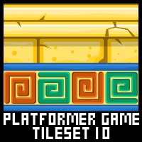 Pyramid Platformer Game Tile Set