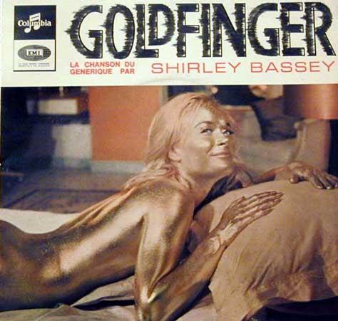 Portada del single del Goldfinger de Shirley Bassey