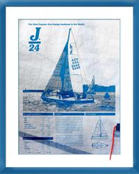 J/24 sailcloth image gift