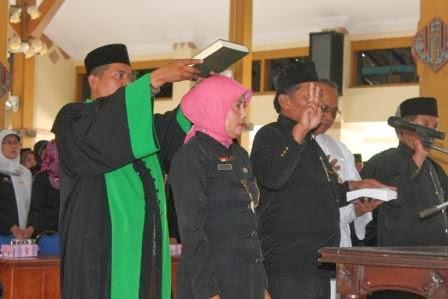 Pelantikan kepala sekolah di Pendopo Wedya Graha Ngawi