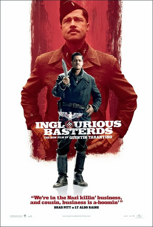 Poster Of Inglourious Basterds (2009) Full Movie Hindi Dubbed Free Download Watch Online At Alldownloads4u.Com
