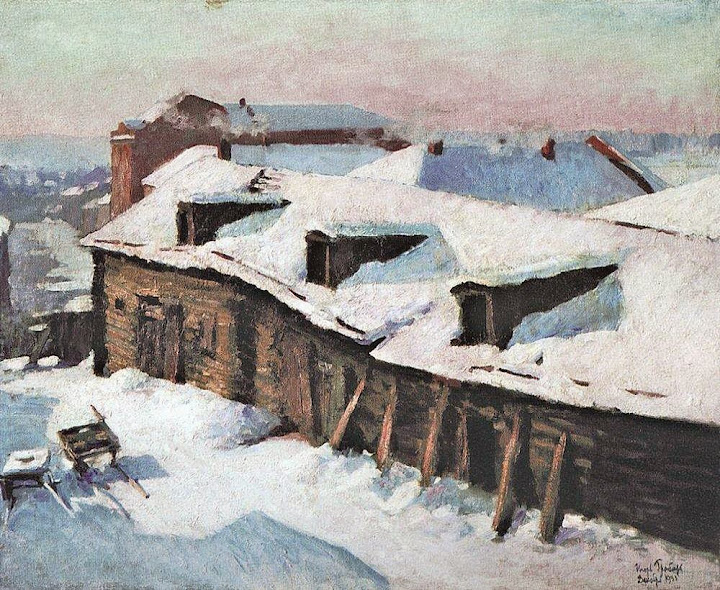 Igor Grabar - Old Barn In Winter