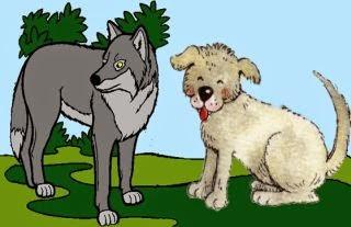 Los lobos reconciliándose con los perros