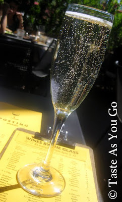 Glass of Prosecco at Postino Arcadia in Phoenix, AZ - Photo by Michelle Judd of Taste As You Go