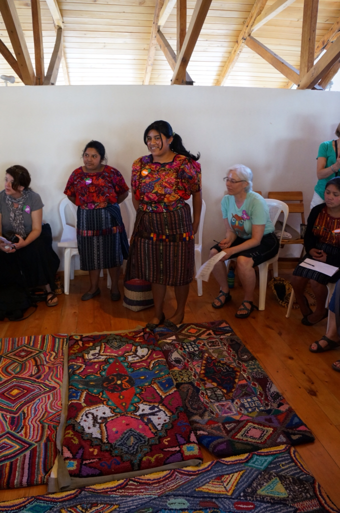 I Have Been Paired Up With Zoila An Amazingly Talented Rug Weaver Embroiderer And More Am Sure She Is Standing In Front Of Two Her Rugs