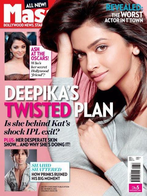 Deepika Padukone Cover on Masala magazine - March 2011
