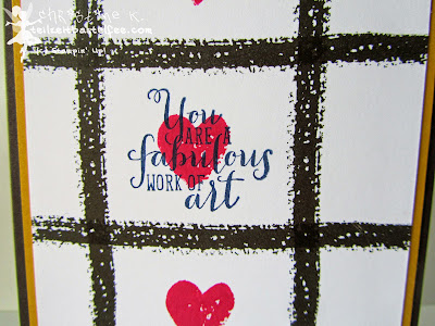stampin up, work of art, tic tac toe, love